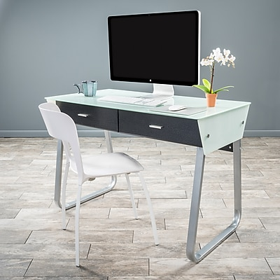Noble House Stafford Computer Desk White+Black (295571)