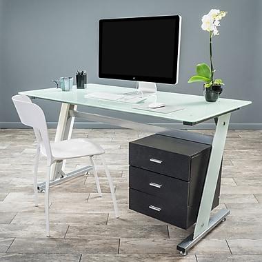 Noble House Olivia Computer Desk White & Silver (295569)