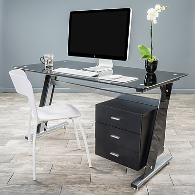 Noble House Raleigh Computer Desk Black and Silver (295568) 24259505