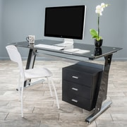 Noble House Raleigh Computer Desk Black and Silver (295568)
