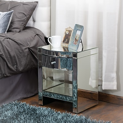 Noble House Jacobsen Nightstand and Mirror (295468)