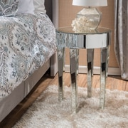 Noble House Turner Side Table Clear- Mirror (298206)