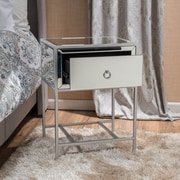 Noble House Bristol Side Table Clear - Silver (298211)