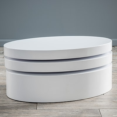 Noble House Alan Coffee Table Glossy White (295367)