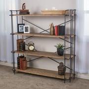 "Noble House Norris 4 Shelf Bookcase 65.50""H Classic Industrial Antique (295969)"