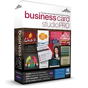 Summitsoft Business Card Studio Pro for Windows (1 User) [Download]