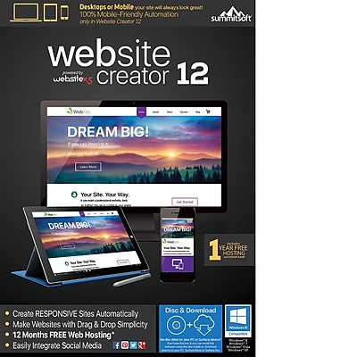 Summitsoft Website Creator 12 for Windows (1 User) [Download]