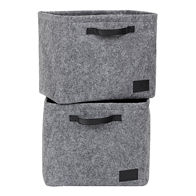 South Shore Storit Gray Large Woven Felt Baskets, 2-Pack (100240)