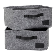 South Shore Storit Gray Small Woven Felt Baskets, 2-Pack (100239)