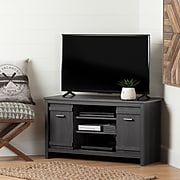 South Shore Exhibit Corner TV Stand, for TVs up to 42'', Gray Oak (10527)
