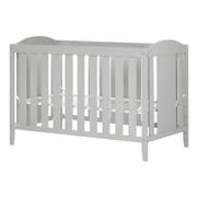 South Shore Angel Crib with Toddler Rail, Soft Gray (10590)