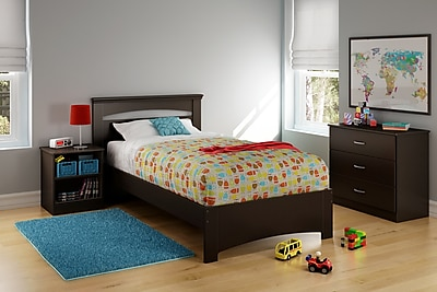 South Shore Libra Twin Bed Set (39''), Chocolate