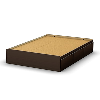 South Shore Full Mates Bed (54'') with 3 Drawers, Chocolate