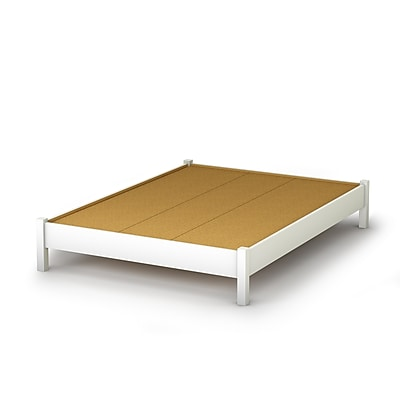 South Shore Step One Full Platform Bed (54''), Pure White (3050204)
