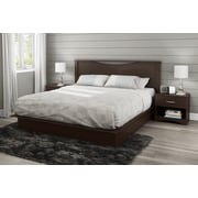 """South Shore Step One King Platform Bed (78"""") with Drawers, Chocolate (3159237)"""