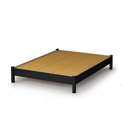 South Shore Step One Full Platform Bed (54''), Pure Black (3070204)