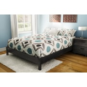 """South Shore Step One Queen Platform Bed (60"""") on Legs, Gray Oak (737203)"""