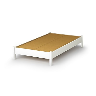 South Shore Step One Twin Platform Bed (39''), Pure White (3050205)