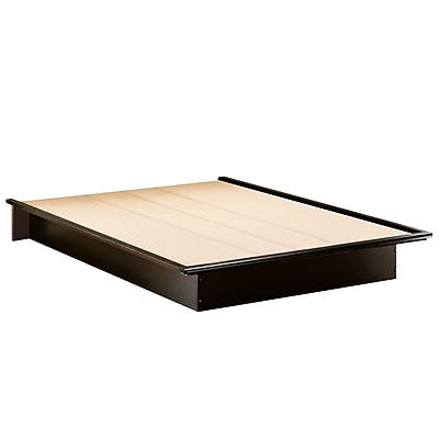 South Shore Step One Queen Platform Bed (60''), Pure Black (3070233)
