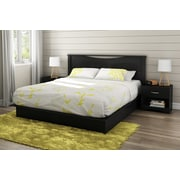 "South Shore Step One King Platform Bed (78"") with Drawers, Pure Black (3107237)"