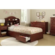 """South Shore Summer Breeze Twin Mates Bed (39"""") with 3 Drawers, Royal Cherry (3746212)"""