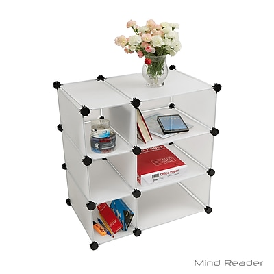 Mind Reader 3CUBE3-WHT Multi-Purpose Magic Cube Storage