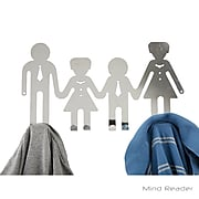 Mind Reader 8DHRACK-ASST 8 Hook Over-The-Door Rack with Family Design, Multi
