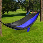 Mind Reader Nylon Hammock with Iron Carabiner, Blue