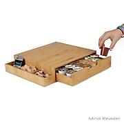 Mind Reader Bamboo K-Cup® Drawer with Side Caddy, Brown (KCADBM-BRN)