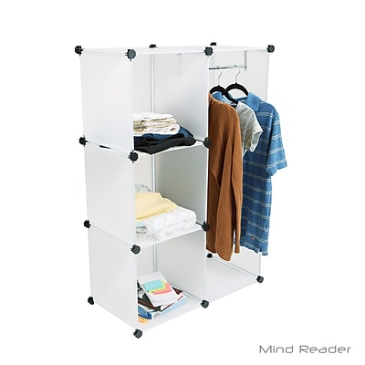 Mind Reader WARDCUBE-WHT Multi-Purpose and Wardrobe Magic
