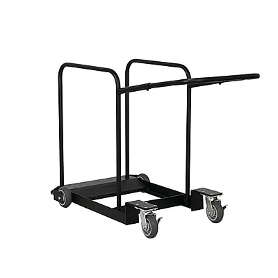 MityLite Edge Round Table Cart Narrow, Powder Coated Steel (CRTCT42-72BLK56)