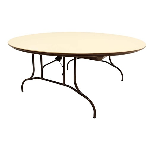 MityLite Round Table ABS Plastic Beige CTBGB Staples - Staples round table