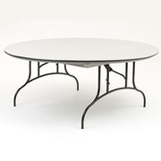 "MityLite 72"" Round Table, ABS Plastic, Gray (CT72GRB1)"