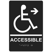 "ComplianceSigns 9"" x 6"" Acrylic ADA Accessibility Sign, English + Braille, Charcoal Gray (RRE-14756-WHTonCHGRY-AC-9x6)"