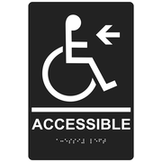 "ComplianceSigns 9"" x 6"" Acrylic ADA Accessibility Sign, English + Braille, Charcoal Gray (RRE-14757-WHTonCHGRY-AC-9x6)"