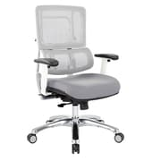 Office Star Pro-Line II White Vertical Mesh Adjustable Back Executive Chair with Polished Aluminum Base (SPLS961)