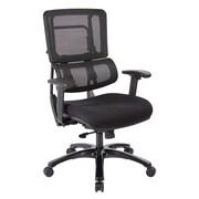 Office Star Pro-Line II Black Vertical Mesh Adjustable Back Executive Chair with Black Finish Base (SPLS963)