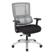 Office Star Pro-Line II Silver Vertical Mesh Adjustable Back Executive Chair with Silver Finish Base (SPLS966)