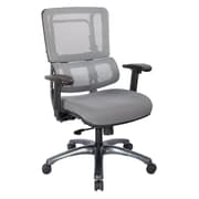 Office Star Pro-Line II Silver Vertical Mesh Adjustable Back Executive Chair with Titanium Finish Base (SPLS967)