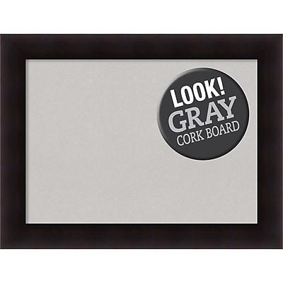 """""Amanti Art Framed Grey Cork Board, Large, Portico Espresso 34"""""""" x 26"""""""" Frame, Espresso (DSW3994459)"""""" 24294821"