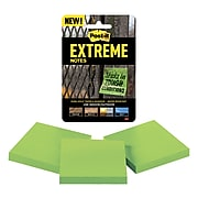 "Post-it® Extreme Notes, 3"" x 3"", Green, 3 Pads/Pack (EXTRM33-3TRYGN)"