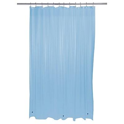 Bath Bliss Shower Liner, Heavy Grommet, Blue (5233-48)