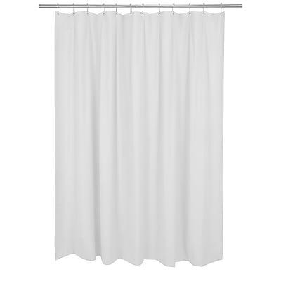 Bath Bliss Shower Liner, Mildew Resistant, White (5301)