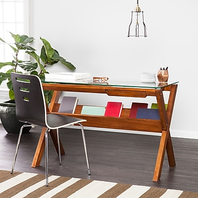 SEI Holly & Martin Sophi Writing Desk, Dark Sienna (HO1273)