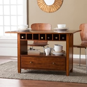 SEI Axford Convertible Console to Dining Table, Oak Saddle (DN2972)