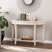 SEI Laverly Traditional Demilune Console Table, Whitewash (CK0193)