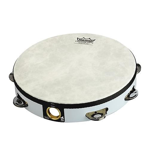 "Remo Fiberskyn Tambourine, 8"", White"