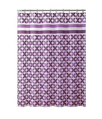 Bath Bliss Shower Curtain, PinWheel Design, Purple (5391)
