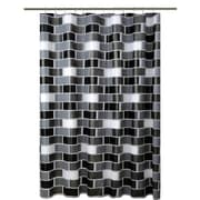 Bath Bliss Shower Curtain, Brick Design (5394)