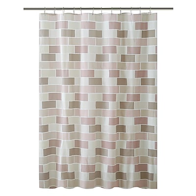 Bath Bliss Shower Curtain, Beige Tile Design (5381)